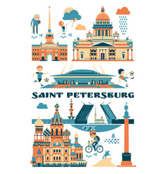 saint-petersburg russia of vector image