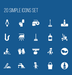 Set of 20 editable cleaning icons includes vector