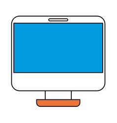 silhouette color sections of modern flat computer vector image