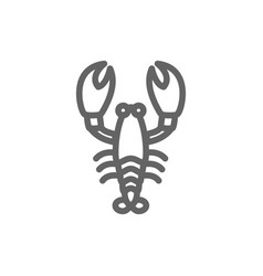 simple lobster line icon symbol and sign vector image