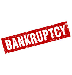Square grunge red bankruptcy stamp vector