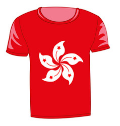 t-shirt flag hong kong vector image