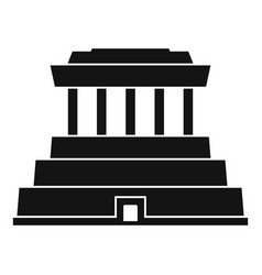 taiwan temple icon simple style vector image