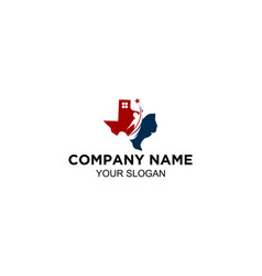 texas home care center logo vector image