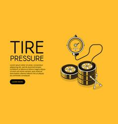 tire pressure car auto service vector image