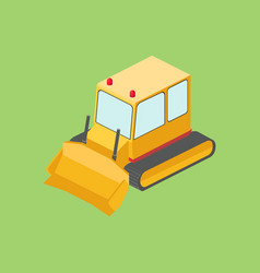 tractor bulldozer isometric vector image