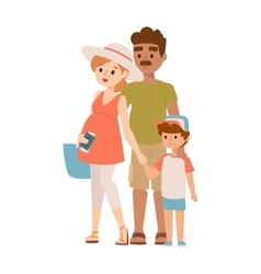 Vacation family vector image