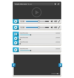 Web video and audio player vector