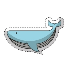 whale animal maritime icon vector image