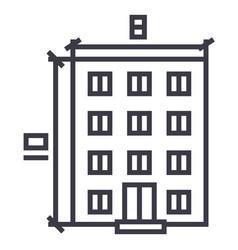 buildingarchitecture project line icon vector image