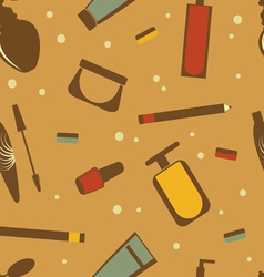 Cosmetics pattern vector image