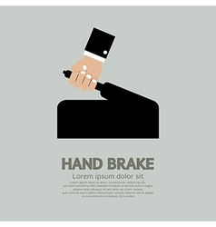 Hand Brake vector image vector image
