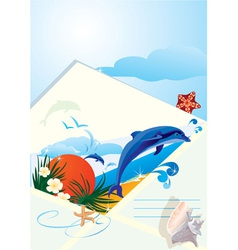summer holiday envelope vector image vector image