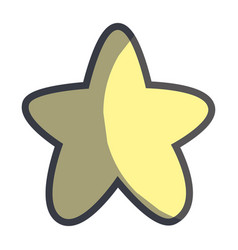 cute light star in the sky image vector image