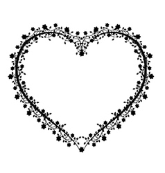 flourishes vintage heart vector image vector image