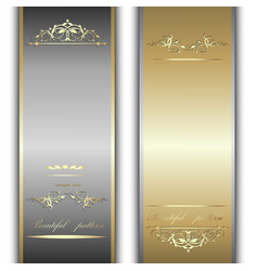 gold and silver ribbons vector image