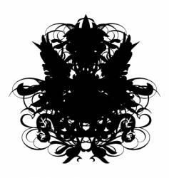 heraldry sheld regal vector image vector image