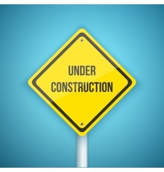 Photorealistic Website Under Construction vector image