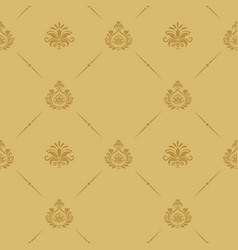 seamless pattern baroque style vector image vector image