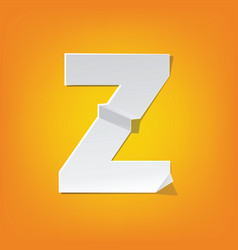 z capital letter fold english alphabet new design vector image