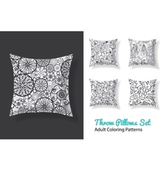 adult coloring patterns prints on a set of vector image vector image