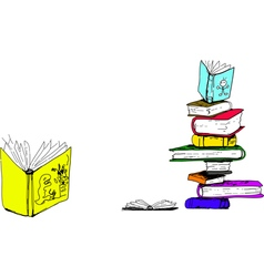 Childrens books drawing preview vector