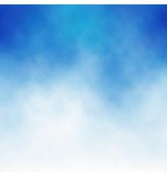cloud blue vector image vector image