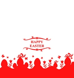 eggs and flower red vector image vector image