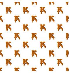 Letter k from caramel pattern vector