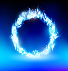 Ring with a blue flame vector