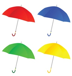 umbrella color vector image