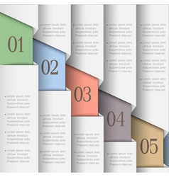 White paper numbered banners vector image