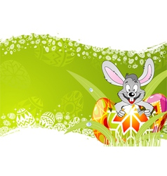 easter frame vector image vector image