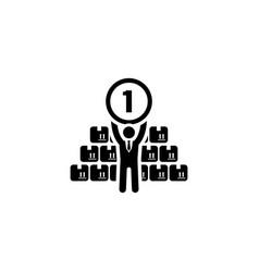 market leader icon business concept flat design vector image
