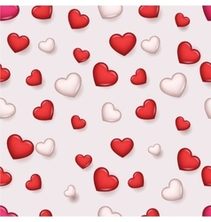 Pattern Valentine Day Romantic Love Hearts Retro vector image vector image