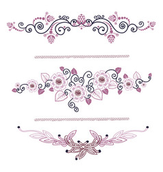 vintage decoration pages pink vector image vector image