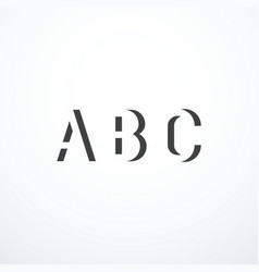 abstract abc letters vector image