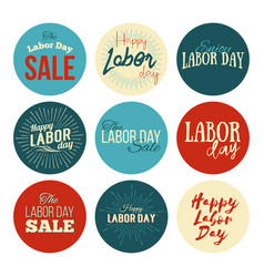 American labor day sale designs set vector