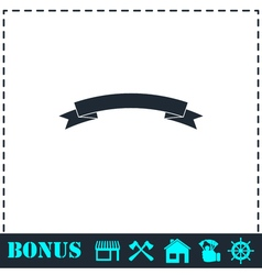 Banner icon flat vector