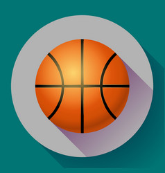 Basketball flat icon sport vector