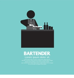 Black Symbol Bartender vector