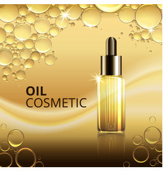 Bright cosmetic oil ads template vector