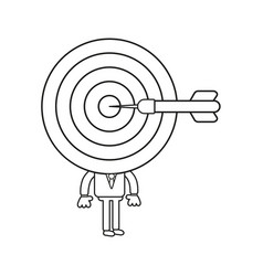 Businessman character with bulls eye head and vector