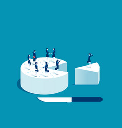 businesswoman people standing on cake vector image