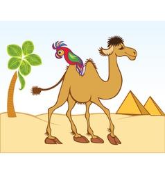 Camel parrot vector