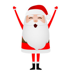 cartoon funny santa claus waving hand isolated on vector image
