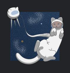 Cat in space vector