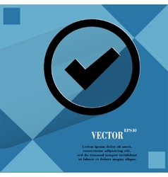 Check mark Flat modern web design on a flat vector