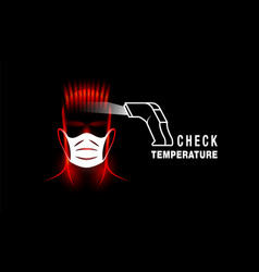 Checking temperature with thermometer vector