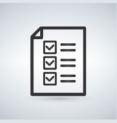 checklist icon from business set style flat vector image